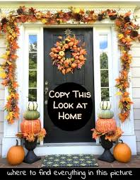 diy fall front porch where find all decor items copy