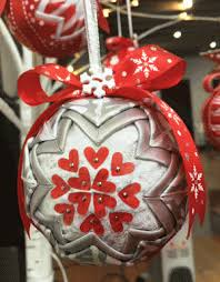 no sew folded ribbon fabric ornaments think crafts