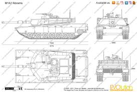 Blue Print Size by The Blueprints Com Vector Drawing M1a1 Abrams