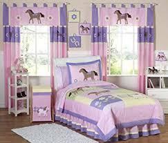 amazon com sweet jojo designs 4 piece pretty pony horse