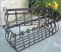 Metal Window Boxes For Plants - large vineyard iron window boxes set of 2 ideas for the house
