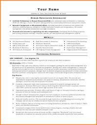 hr generalist sample resume stoppedpresents tk
