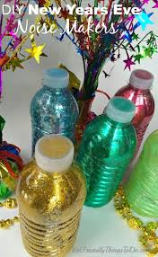 make your own noise makers for new years eve water bottles