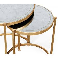 nest of mirrored tables gold swanky interiors