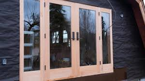 Wooden Exterior French Doors by Woodworking Building French Doors How To Youtube