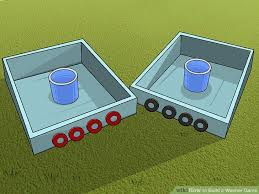 Horseshoe Pit Dimensions Backyard The Easiest Way To Build A Washer Game Wikihow