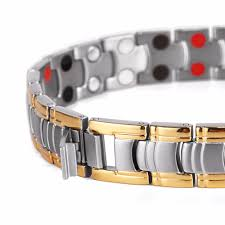magnetic bracelet gold plated images Rainso men jewelry bio energy gold plated magnetic health bracelet jpg