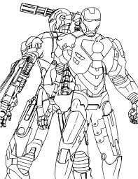 war machine coloring pages super heroes printable coloring pages
