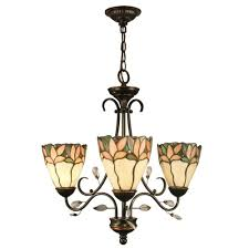 Art Glass Chandeliers Dale Tiffany Crystal Leaf 3 Light Antique Bronze Chandelier With