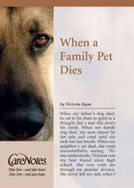 when a pet dies carenotes by press