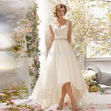wedding dress suppliers aliexpress buy high low wedding dresses v neck organza