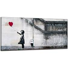 Dining Room Prints Banksy Large Canvas Prints With The Red Balloon For Dining Room