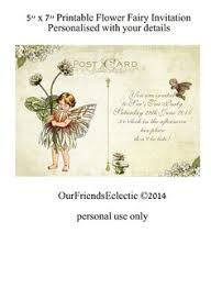 flower fairy invitation fairy invite template postcard