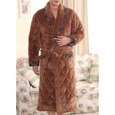 robe de chambre homme chaude robe de chambre homme matelassée marron liseret achat vente