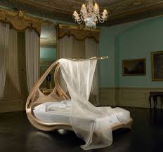 Chandelier Canopy by Bedroom Girls Canopy Bed With White Curtain And Crystal