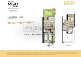 floor plans noor townhouses town square by nshama plan for