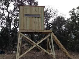 Deer Blind Elevators Finished My Deer Stand Texags