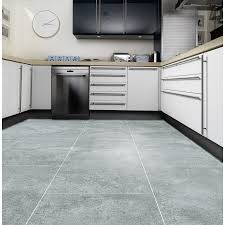 somerton concrete tile effect vinyl 2 x 3m flooring b m