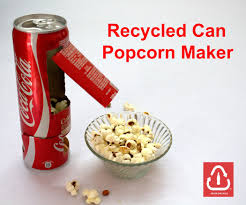 Old Fashioned Popcorn Machine Recycled Coke Can Popcorn Maker 9 Steps With Pictures