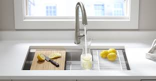Prolific Stainless Steel Kitchen Sink KOHLER - Kohler corner kitchen sink