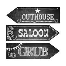 themed signs western themed directional signs customizable to your needs