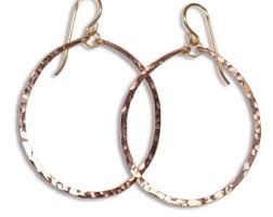 hammered hoops hammered gold hoops etsy