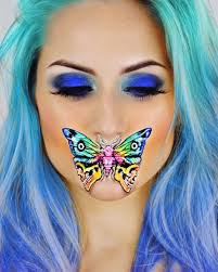 Butterfly Halloween Makeup by Holographic Unicorn Skull Halloween Makeup Popsugar Beauty