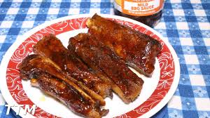 how to cook ribs in the toaster oven pork spare ribs youtube