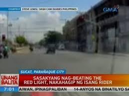 beating the red light sasakyang nag beat the red light nakahagip ng isang rider video