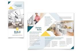 contractor brochure template design