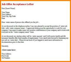 5 email for accepting job offer letter cashier resumes