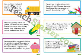 maths word problem cards 0 50 addition and subtraction