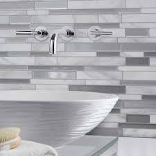 White And Gray Bathroom by Grays Tile Flooring The Home Depot