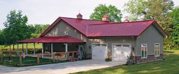 garage cream duplex metal barn homes with white roof for best