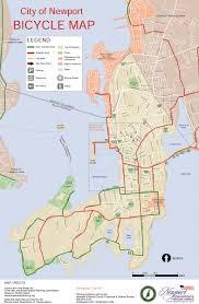 Boston Bike Map by Newport Bicycle Map Bike New England
