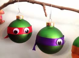mutant turtles inspired ornament