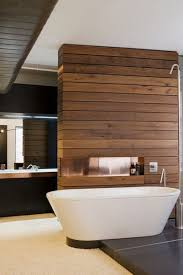White Paneling For Bathroom Walls - rustic wood divider wall in bathroom is quite nice with white