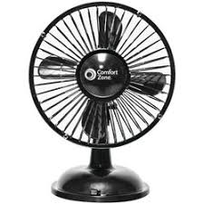 battery operated fans comfort zone battery operated 6 usb oscillating table fan
