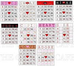 valentines bingo the cutting cafe s day bingo printable stamp set