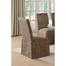 Parson Chairs Slauson Brown Upholstered Parson Chair With Nailhead Trim And