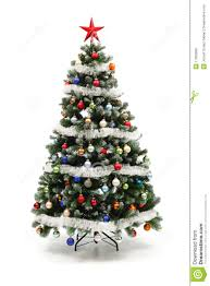 christmas tree decorated colorful decorated artificial christmas tree stock image image