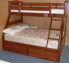 Cherry Oak Three Sleeper Cosmos Triple Bunk Bed In Cherry Oak Finish - Triple trio bunk bed