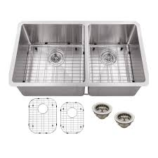 home depot double stainless steel sink schon undermount stainless steel 32 in double bowl kitchen sink