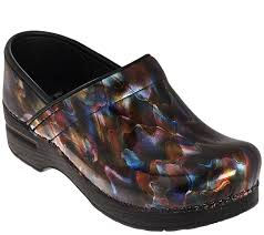 dansko s boots dansko professional leather clogs in fashion colors page 1 qvc com