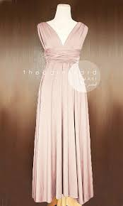 maxi pink bridesmaid convertible dress infinity multiway