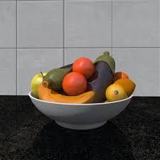 3d model fruit bowl foods cgtrader