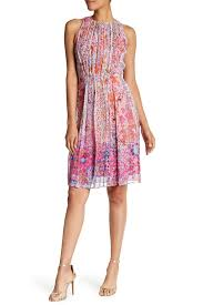 demetria continues to try and sell us on the roger bobb lyst elie tahari demetria multicolred sleeveless silk dress