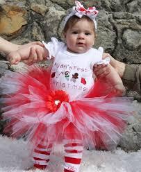 babys 1st christmastutu and onesie set tutu