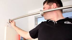 Putting Curtain Rods Up How To Install A Curved Shower Curtain Rod Build Com Youtube