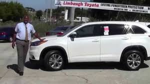 toyota new car 2015 limbaugh toyota new 2015 toyota highlander le white youtube